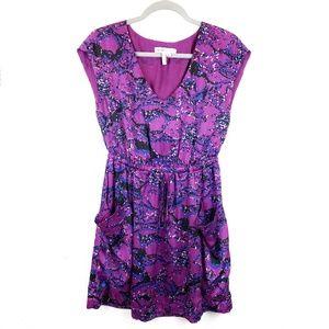BCBGeneration Purple V-neck Sleeveless Dress Sz XS